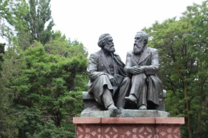 and Marx and Engles, casually discussing