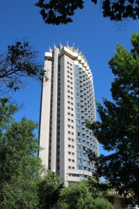 Hotel Kazahkstan, probably the tallest building in town