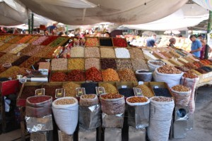 overview of the dried fruits department, well, one of them only