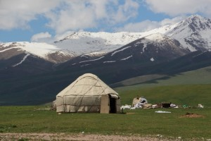 another yurt, in its proper surroundings