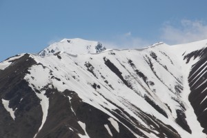 snow-covered ridges