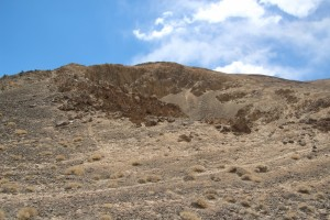 a meteorite crater, the biggest one of several in this valley