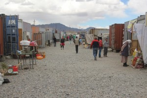 the bazaar, a street of containers