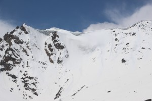 snow ridges on the surrounding mountians