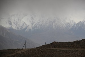 the Hindu Kush remains largly hidden in the clouds