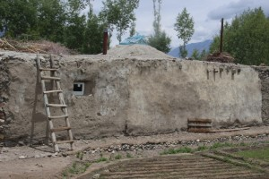 this is a typical Pamir house, with roof window