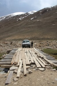 one of the rickety bridges in the Shakdara Valley