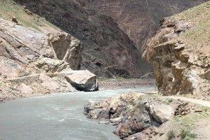 the Panj River, border with Afghanistan