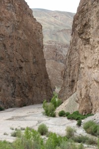 steep gorges feed the Shakdara river