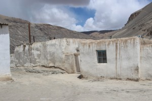 one of the Pamir houses in a village