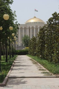 the Palace of Nations, one of Dushanbe's outsized buildings