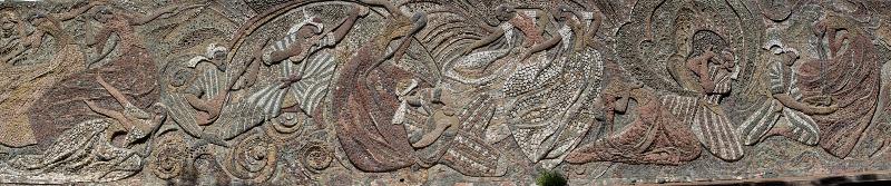Dushanbe mosaic depicting the arts