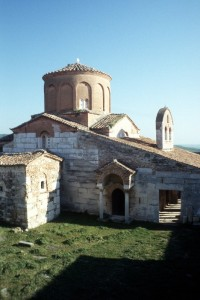 the small church inside the monastery complex