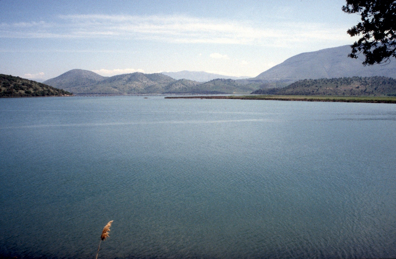 Butrint is situated at the shore of a large, shallow lake
