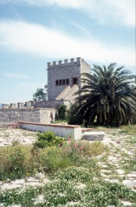 the Venetian tower at the entrance of the Butrint complex