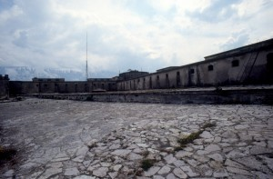 the prison cells and the execution range in the castle