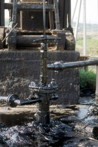 oil loss through the connections at a production well