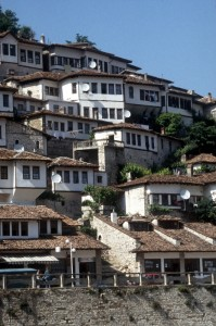 the old Ottoman houses in Berat