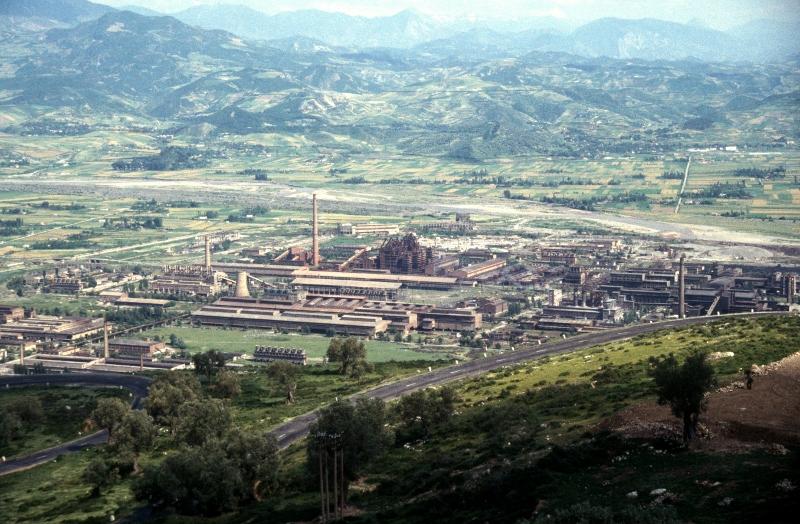 the Elbasan steel factory