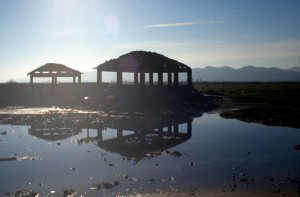 the covered steam baths of Albania's former pre-eminent spa