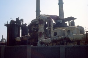 the sulphur factory in the vicinity of the spa, also not working anymore