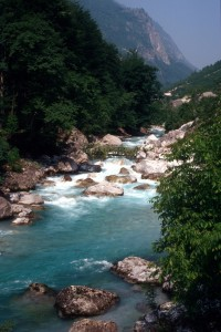 the Valbona river, in the Tropoja region