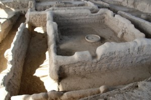 rooms and corridors in 5500 year old Sarazm town