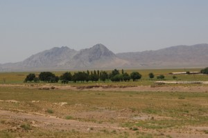 countryside at the Tajik - Uzbek border