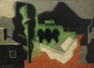 """Landscape"", oil on canvas (circa 1921) - Jean Metzinger"