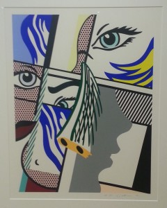"""Modern I"", screenprint on paper - Roy Lichtenstein"