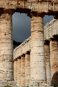 Doric columns of the Segesta temple