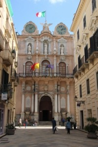 the Palazzo Senatorio, one of the many 18th C palaces in Trapani