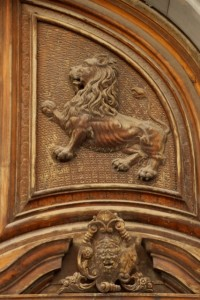 decoration above a door of one of the Tramani palaces