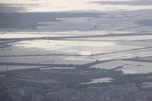 the salt flats of Trapani, view from Erice