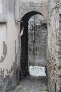 small alley in Erice