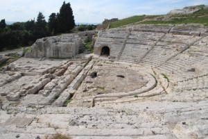 the Greek theatre in Syracuse