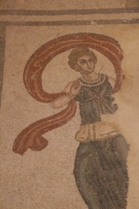 Roman floor mosaic of a dancing woman