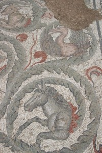 outside mosaic, in the villa court yard