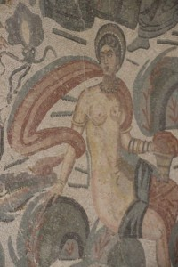 not porn, just a nymph on the floor of the myths room