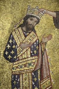 a mosaic - the Norman king Roger II - in another famous Palermo church, La Martorana