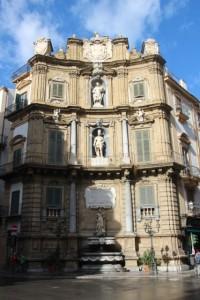one of the four sides of Quattro Canti, the main intersection in Palermo