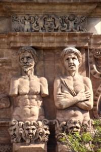 decoration of the Porta Nueva