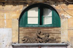 a simple wooden window