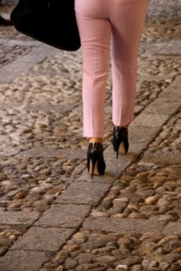 which is not easy to negotiate on high heels