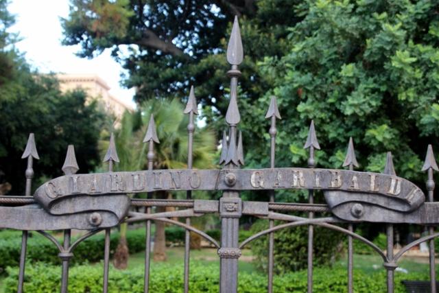 the fence of lovely Giardino Garibaldi