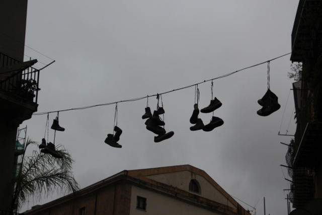 somebody decided to dry the shoes
