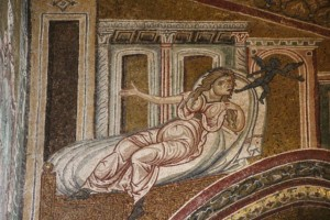 one of the many mosaics that cover the Cappella
