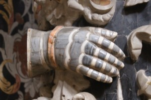 marble hands in the Monreale cathedral