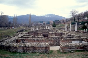the Roman ruins in Stobi