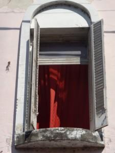 window along the peatonal, the pedestrian shopping area called San Martin